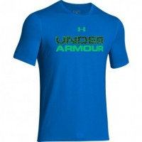 Under Armour Camiseta MC Wordmark Stacked Fill Q1