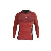 HG Camiseta técnica  M/L negra/roja
