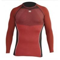 HG Camiseta M/L roja/negra